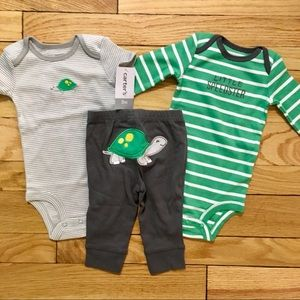 Carter's Matching Turtle Set NWT